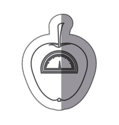 Figure apple weight scale icon vector