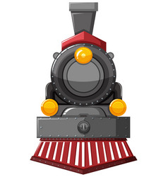 Steam engine in gray color vector