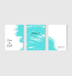Set of creative universal cards hand drawn vector