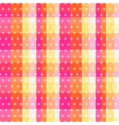seamless abstract plaid check with polka texture vector image