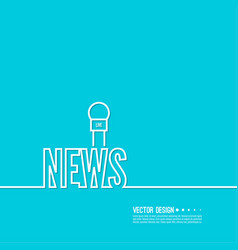Live news template vector