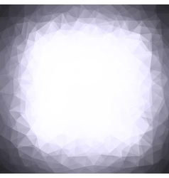 Abstract triangle design gray background vector