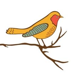 Beautiful colorful bird vector image