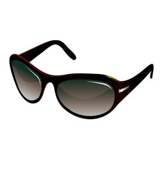Trendy black sunglasses for women vector