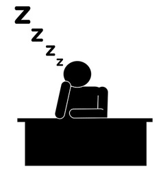 Sit sleep on the table vector
