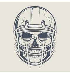 Skull in a helmet to play football vector