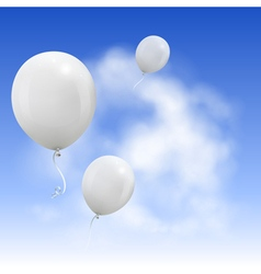 White balloons vector
