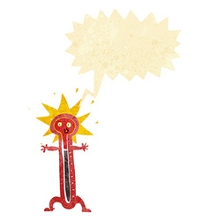 Cartoon thermometer with speech bubble vector