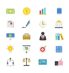 Business and Finance Flat Icons color vector image