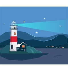 Light House Seascape vector image
