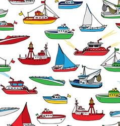 Colourful seamless nautical pattern vector