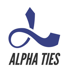 Alpha stylized as tie vector