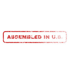 Assembled in us rubber stamp vector