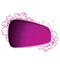beauty flower pink vector image vector image