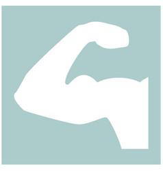Bicepsom icon the white color icon vector