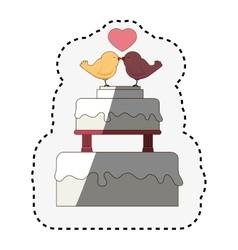Birds wedding card celebration vector