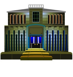 Building with illuminated vector
