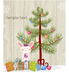 Bunny with tree vector
