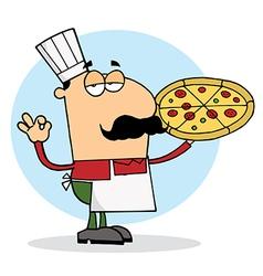 Cartoon pizza chef vector