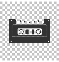 Cassette icon audio tape sign dark gray icon on vector
