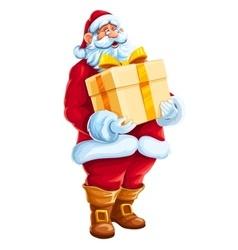 Christmas Santa Claus big gift vector image vector image