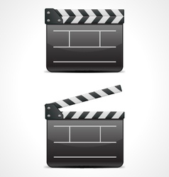clap board cinema icon vector image vector image
