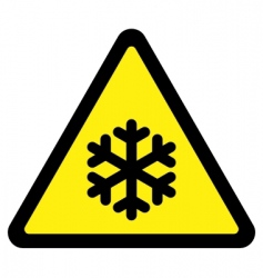 cold sign vector image vector image