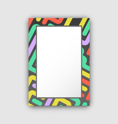 dark colored frame with lines vector image