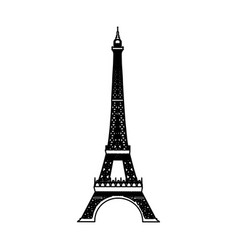 Eiffel tower isolated icon vector