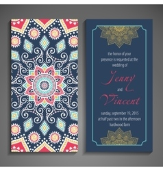 Elegant Indian ornamentation on a dark background vector image vector image