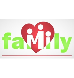 Family logotype vector image vector image