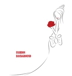 fashion background with girl or woman vector image vector image