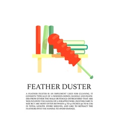 Feather duster concept vector image vector image