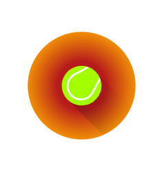 flat color tennis ball vector image vector image
