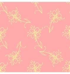 Flowers Doodles Seamless Pattern vector image
