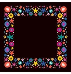 Flowers nature frame border vector