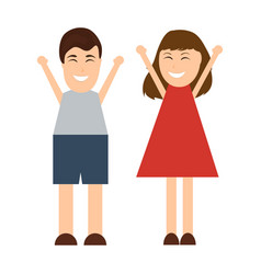funny cartoon man and woman vector image vector image