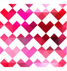 geometric hearts pattern vector image