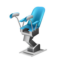 gynecological chair isolated on white vector image vector image
