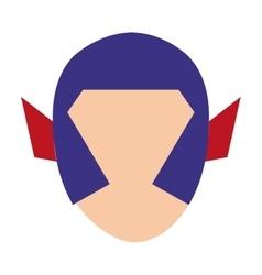 Hero character comic isolated icon vector