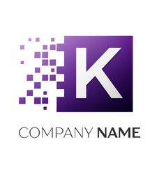 letter k logo symbol in the colorful square with vector image vector image