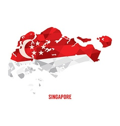 Map of Singapore vector image vector image