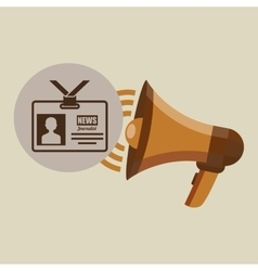 megaphone concept tv news design vector image