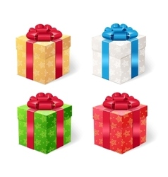Present Box Set vector image vector image