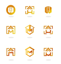 set of logos homes vector image vector image