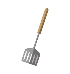 Spatula kitchen and cooking utensils shadow vector