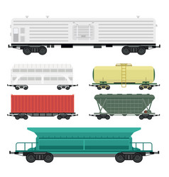 Train carriages car railway without striping vector