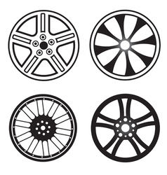 wheels vector image