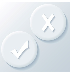 Yes No 3D Paper Icons vector image