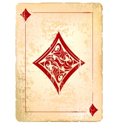 Ace of diamonds vector